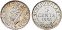5 Cents 1938 Kanada-Newfoundland George VI. 1937-1952. Winzige Kratzer,... 30,00 EUR  +  5,00 EUR shipping