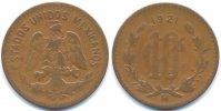 10 Centavos 1921 Mexiko - Mexico Republik - Bronze schön/sehr schön  28,00 EUR  +  4,80 EUR shipping