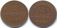 2 Pfennig 1869 Bayern Ludwig II. 1864-1886 – einseitige Prägung sehr sc... 55,00 EUR  +  4,80 EUR shipping