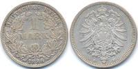 1 Mark 1886 E Kaiserreich kleiner Adler – Silber - ohne Riffelrand! sch... 340,00 EUR free shipping