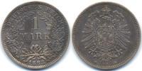 1 Mark 1883 E Kaiserreich kleiner Adler - Silber vorzüglich  750,00 EUR free shipping
