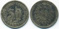 50 Pfennig 1875 F Kaiserreich kleiner Adler - Silber sehr schön+ - leic... 75,00 EUR  +  4,80 EUR shipping