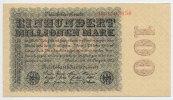 100 Millionen Mark 1923 Deutsches Reich Inflation 1919-1924 Rosenberg N... 22,00 EUR  +  4,80 EUR shipping