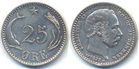D&auml;nemark - Denmark 25 &Ouml;re 1891 CS fast vorz&uuml;glich Christian IX. 1863-190... 58,00 EUR 