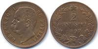 Italien - Italy 2 Centesimi 1897 R vorz&uuml;glich+ Umberto I. 1878-1900 28,00 EUR 