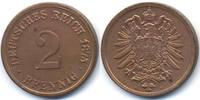 2 Pfennig 1875 H Kaiserreich kleiner Adler - Kupfer vorzüglich+ - leich... 62,00 EUR  +  4,80 EUR shipping
