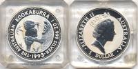 1 Dollar 1993 Australien - Australia Kookaburra 1993 - Silber 1 Oz. stg... 30,00 EUR  +  4,80 EUR shipping
