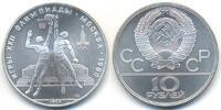 10 Rubel 1979 Russland - Russia UDSSR 1917-1991 - Olympiade 1980 'Baske... 32,00 EUR  +  4,80 EUR shipping