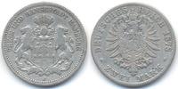 2 Mark 1878 J Hamburg Freie und Hansestadt schön+  49,00 EUR  +  4,80 EUR shipping