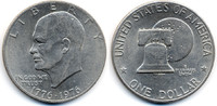 1 Dollar 1976 USA - USA Eisenhower Bicentennial Typ II – Kupfer/Nickel ... 5,00 EUR