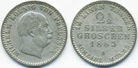2 1/2 Silbergroschen 1863 A Brandenburg-Preussen Wilhelm I. 1861-1888 g... 12,50 EUR