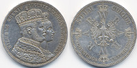 1 Taler (Krönungstaler) 1861 A Brandenburg-Preussen Wilhelm I. 1861-188... 47,00 EUR