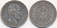 5 Mark 1874 A Preußen Wilhelm I. 1861-1888 fast sehr schön - kleiner Ra... 27,00 EUR