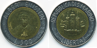 500 Lire 1984 San Marino - San Marino Republik – Albert Einstein Bimeta... 4,00 EUR