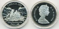 1 Dollar 1989 Kanada - Canada Mackenzie River Polierte Platte/Proof  11,00 EUR