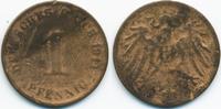 1 Pfennig 1911 Kaiserreich großer Adler – Kupfer – zu kleiner Schrötlin... 15,00 EUR  +  1,80 EUR shipping