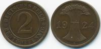 2 Rentenpfennig 1924 A Weimarer Republik Kupfer – Lichtenrader Prägung ... 12,00 EUR  +  1,80 EUR shipping