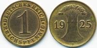 1 Reichspfennig 1925 J Weimarer Republik Kupfer - Messingfarben sehr sc... 3,00 EUR  +  1,80 EUR shipping