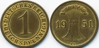 1 Reichspfennig 1931 G Weimarer Republik Kupfer - Messingfarben sehr sc... 5,00 EUR  +  1,80 EUR shipping