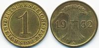 1 Reichspfennig 1932 A Weimarer Republik Kupfer - Messingfarben fast vo... 3,00 EUR  +  1,80 EUR shipping