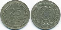 25 Pfennig 1909 F Kaiserreich Nickel – Lichtenrader Prägung sehr schön+... 20,00 EUR  +  4,80 EUR shipping