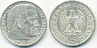 5 Reichsmark 1935 E Drittes Reich Hindenburg ohne Hk - Silber sehr schö... 12,00 EUR  +  1,80 EUR shipping
