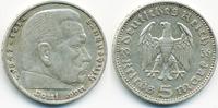 5 Reichsmark 1935 J Drittes Reich Hindenburg ohne Hk - Silber sehr schön  10,00 EUR  +  1,80 EUR shipping