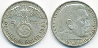 5 Reichsmark 1938 A Drittes Reich Hindenburg mit Hk - Silber sehr schön... 13,00 EUR  +  1,80 EUR shipping