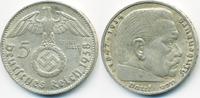 5 Reichsmark 1938 D Drittes Reich Hindenburg mit Hk - Silber fast vorzü... 15,00 EUR  +  1,80 EUR shipping