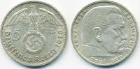 5 Reichsmark 1938 G Drittes Reich Hindenburg mit Hk - Silber sehr schön+  14,00 EUR  +  1,80 EUR shipping