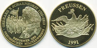 vergoldete Kupfer/Nickel Medaille 1991 BRD Gerhard von Scharnhorst präg... 7,00 EUR  +  1,80 EUR shipping