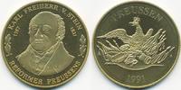 vergoldete Kupfer/Nickel Medaille 1991 BRD Karl Freiherr vom Stein präg... 7,00 EUR  +  1,80 EUR shipping