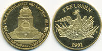 vergoldete Kupfer/Nickel Medaille 1991 BRD Völkerschlacht Leipzig präge... 7,00 EUR  +  1,80 EUR shipping