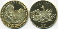 vergoldete Kupfer/Nickel Medaille 1991 BRD Karl Fürst von Hardenberg pr... 7,00 EUR  +  1,80 EUR shipping