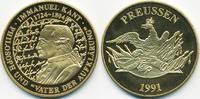 vergoldete Kupfer/Nickel Medaille 1991 BRD Immanuel Kant prägefrisch  7,00 EUR  +  1,80 EUR shipping