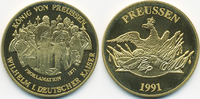 vergoldete Kupfer/Nickel Medaille 1991 BRD Kaiser Proklamation 1871 prä... 7,00 EUR  +  1,80 EUR shipping