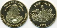 vergoldete Kupfer/Nickel Medaille 1991 BRD Friedrich Wilhelm – Der groß... 7,00 EUR  +  1,80 EUR shipping
