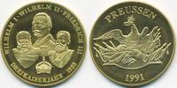 vergoldete Kupfer/Nickel Medaille 1991 BRD Dreikaiser Jahr 1888 prägefr... 7,00 EUR  +  1,80 EUR shipping