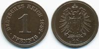 1 Pfennig 1889 E Kaiserreich kleiner Adler - Kupfer prägefrisch - etwas... 22,00 EUR  +  4,80 EUR shipping