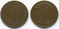 1 Reichspfennig 1934 J Weimarer Republik Kupfer sehr schön/vorzüglich  1,40 EUR  +  1,80 EUR shipping