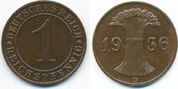 1 Reichspfennig 1936 D Weimarer Republik Kupfer vorzüglich+  2,00 EUR  +  1,80 EUR shipping