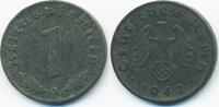 1 Reichspfennig 1942 G Drittes Reich Zink sehr schön/vorzüglich  1,50 EUR  +  1,80 EUR shipping