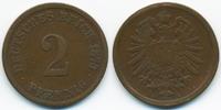 2 Pfennig 1875 G Kaiserreich kleiner Adler - Kupfer schön/sehr schön  3,50 EUR  +  1,80 EUR shipping