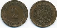 2 Pfennig 1875 J Kaiserreich kleiner Adler - Kupfer sehr schön  3,00 EUR  +  1,80 EUR shipping