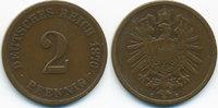 2 Pfennig 1876 C Kaiserreich kleiner Adler - Kupfer schön+  1,40 EUR  +  1,80 EUR shipping