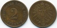 2 Pfennig 1876 F Kaiserreich kleiner Adler - Kupfer fast sehr schön  3,00 EUR  +  1,80 EUR shipping