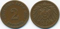 2 Pfennig 1904 A Kaiserreich großer Adler - Kupfer fast sehr schön - le... 0,60 EUR  +  1,80 EUR shipping