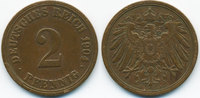 2 Pfennig 1904 A Kaiserreich großer Adler - Kupfer sehr schön  1,00 EUR  +  1,80 EUR shipping