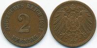 2 Pfennig 1905 A Kaiserreich großer Adler - Kupfer sehr schön - leicht ... 0,80 EUR  +  1,80 EUR shipping