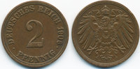 2 Pfennig 1906 A Kaiserreich großer Adler - Kupfer sehr schön+  1,00 EUR  +  1,80 EUR shipping